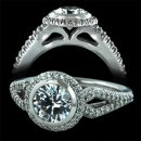 1.25 ctw Round Pave Engagement Ring