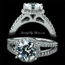 1.66 ctw Split Shank Engagement Ring