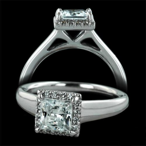 1.10 ctw Princess Cut Engagement Ring