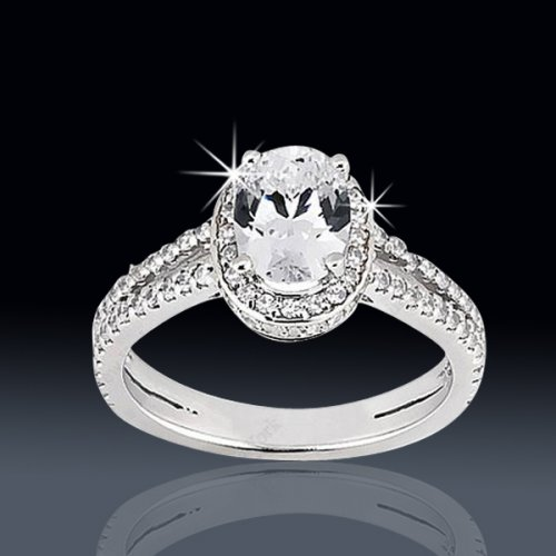 164 tcw amazing oval engagement ring - Amazing Wedding Rings