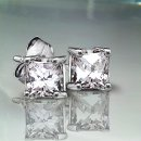 .40 tcw Princess Diamond Earrings