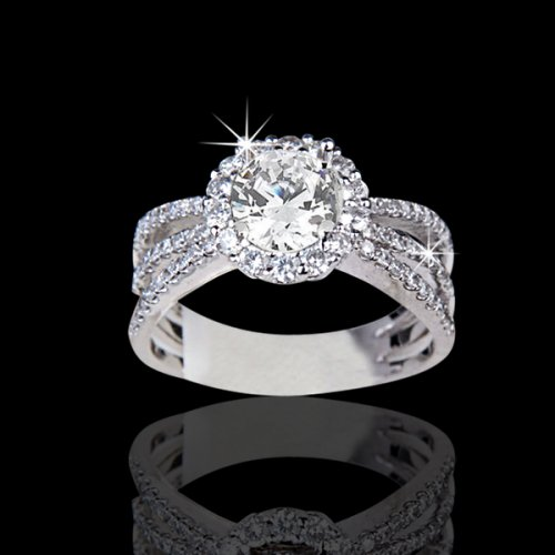 1 81 Tcw Stunning Diamond Engagement Ring