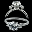 1.39 ctw Three Stone Engagement Ring