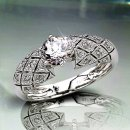 1.05 TCW Elegant Diamond Engagement Ring