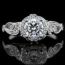 1.61 tcw Antique Style Diamond Engagement Ring