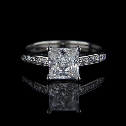 .80 tcw Princess Cut Diamond Engagement Ring