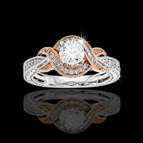 .75 tcw Antique Inspired Engagement Ring
