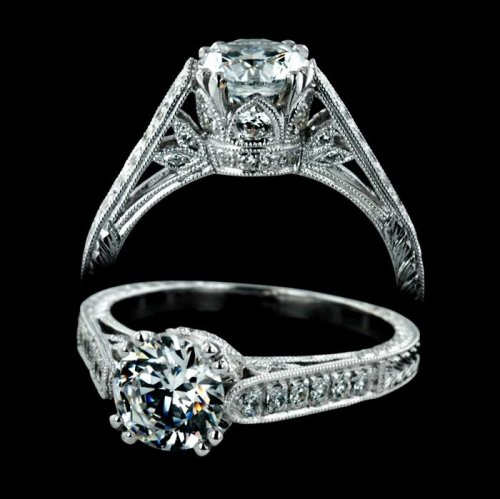 1.45 tcw Exotic Antique Engagement Ring