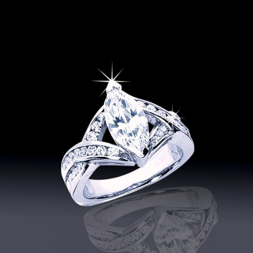 2.11 tcw Marquise Engagement Ring