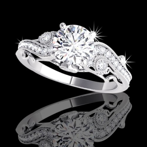 1.12 tcw Antique Style Engagement Ring