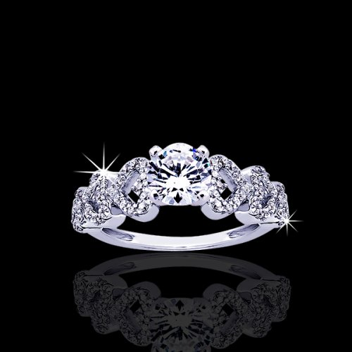 .80 tcw Stunning Hearts Diamond Engagement Ring