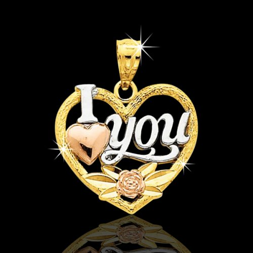 "14kt ""I Love You\"" Heart Pendant"