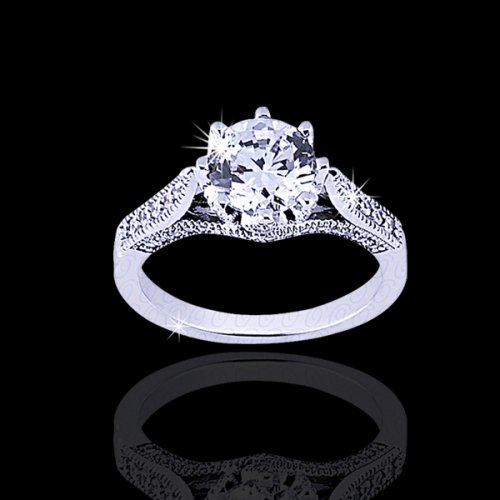 .78 tcw Gorgeous Antique Style Engagement Ring