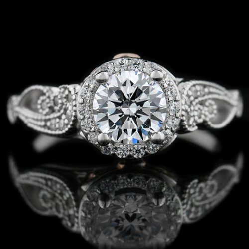 1.45 tcw Antique Style Engagement Ring