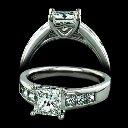 1.0 Carat Princess Cut Engagement Ring