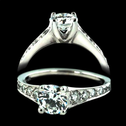 .86 ctw Round Cut Engagement Ring