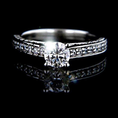 1.77 tcw Brilliant Round Cut Engagement Ring