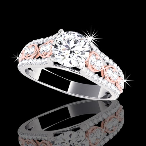 1.94 tcw Fancy Two-Tone Diamond Engagement Ring