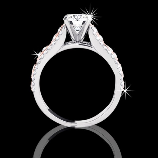 1.94 tcw Fancy Two-Tone Diamond Engagement Ring - Click Image to Close