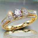 1.20 TCW Heart Engagement Ring