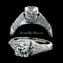 1.50 Vintage Style Engagement Ring