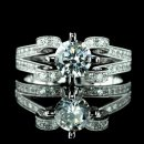 1.50 tcw Vintage Style Engagement Ring