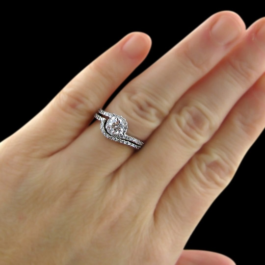 .76 tcw Swirl Diamond Engagement Ring - Click Image to Close