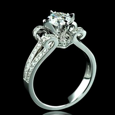 125 tcw vintage style engagement ring spcl101 389000 125 tcw vintage style engagement ring junglespirit Image collections