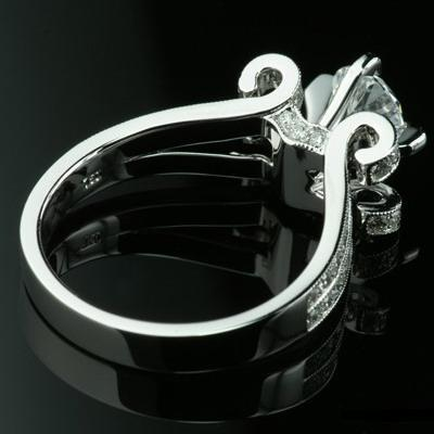 1.50 tcw Vintage Style Engagement Ring - Click Image to Close